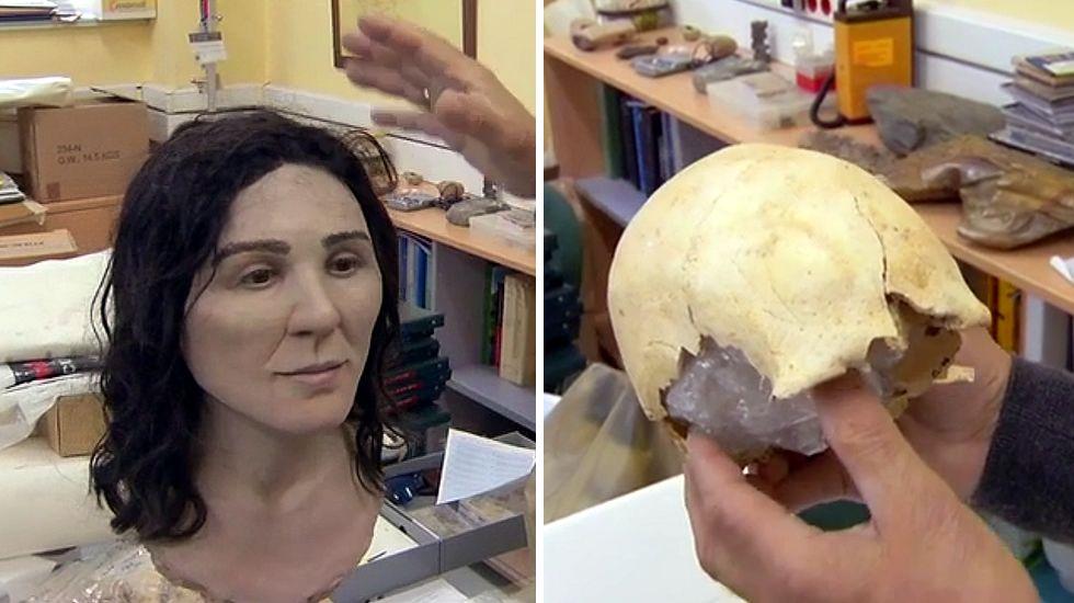 Así es Elba, la pastora gallega de 9.300 años.Reproducción de un neandertal del Museo de Düsseldorf