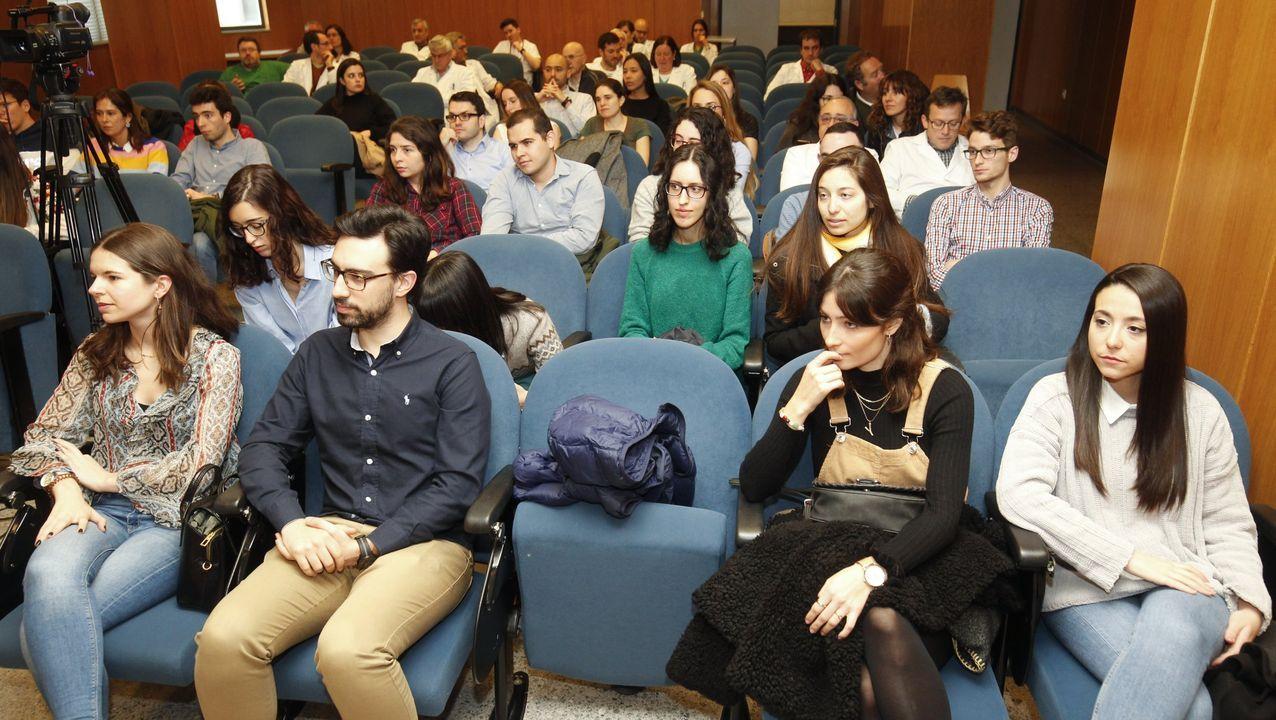 La arquitecta Milagros Rey con sus compañeros de promoción en Madrid