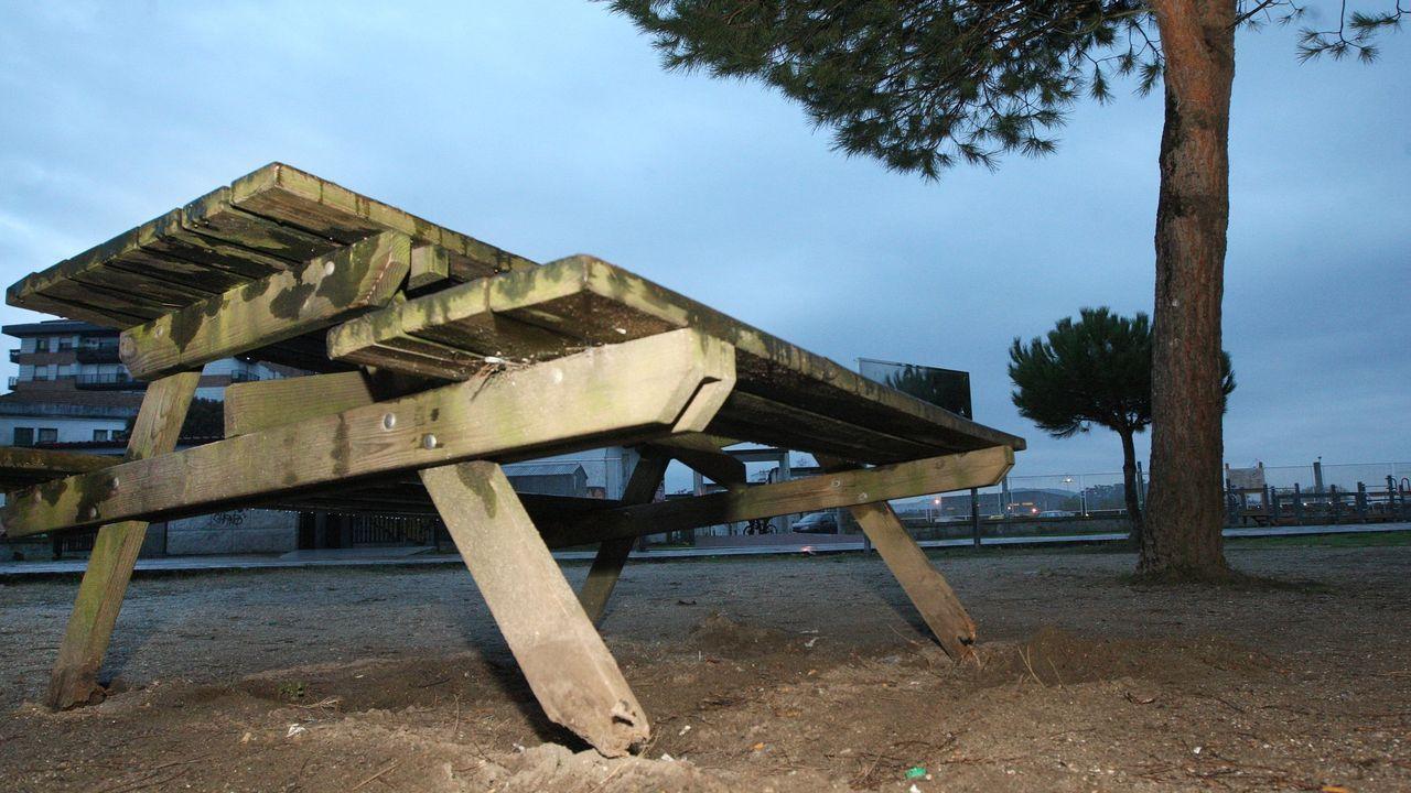 La playa del Matadero se queda sin arena.Imagen de archivo de los juzgados de Vigo