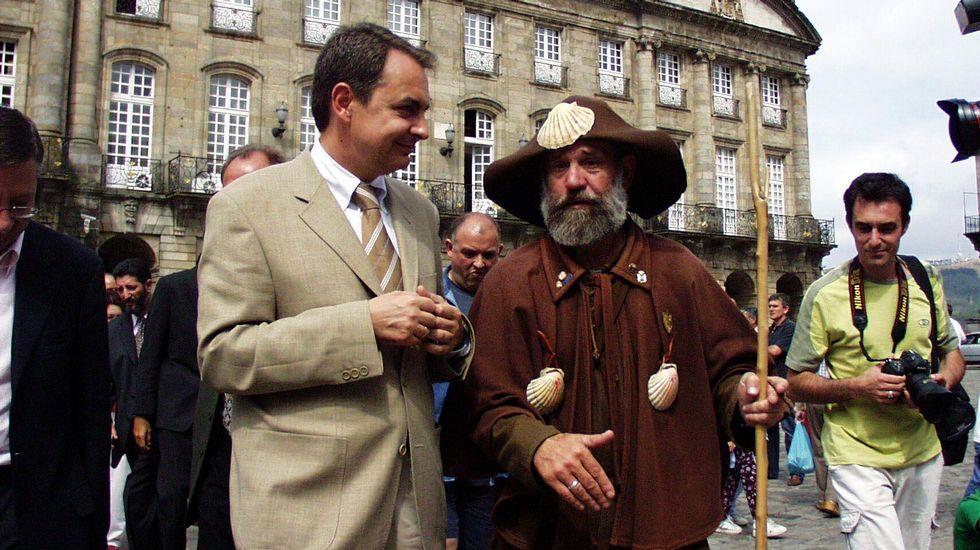 Con el expresidente del Gobierno José Luis Rodríguez Zapatero.