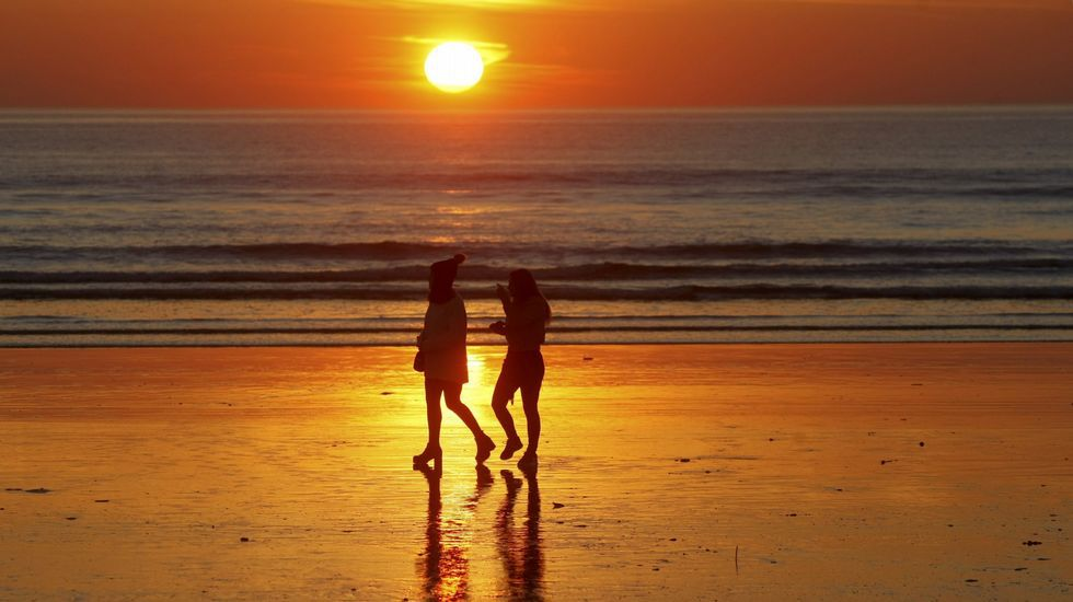 Playa de Retorta, en Boiro.Playa de Lanzada, Sanxenxo
