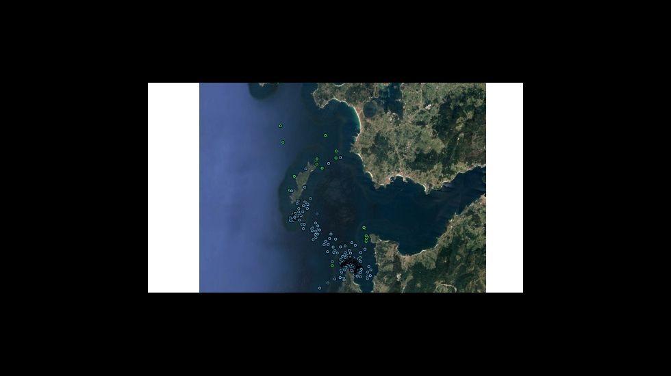 Imagen aérea de las islas Cíes, integrantes del parque nacional de las Illas Atlánticas