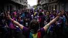 Una imagen de la manifestación de Galegas 8M del 1 de marzo del 2020. Este año no se hará esa convocatoria para toda Galicia, sino movilizaciones a la vez en muchos lugares