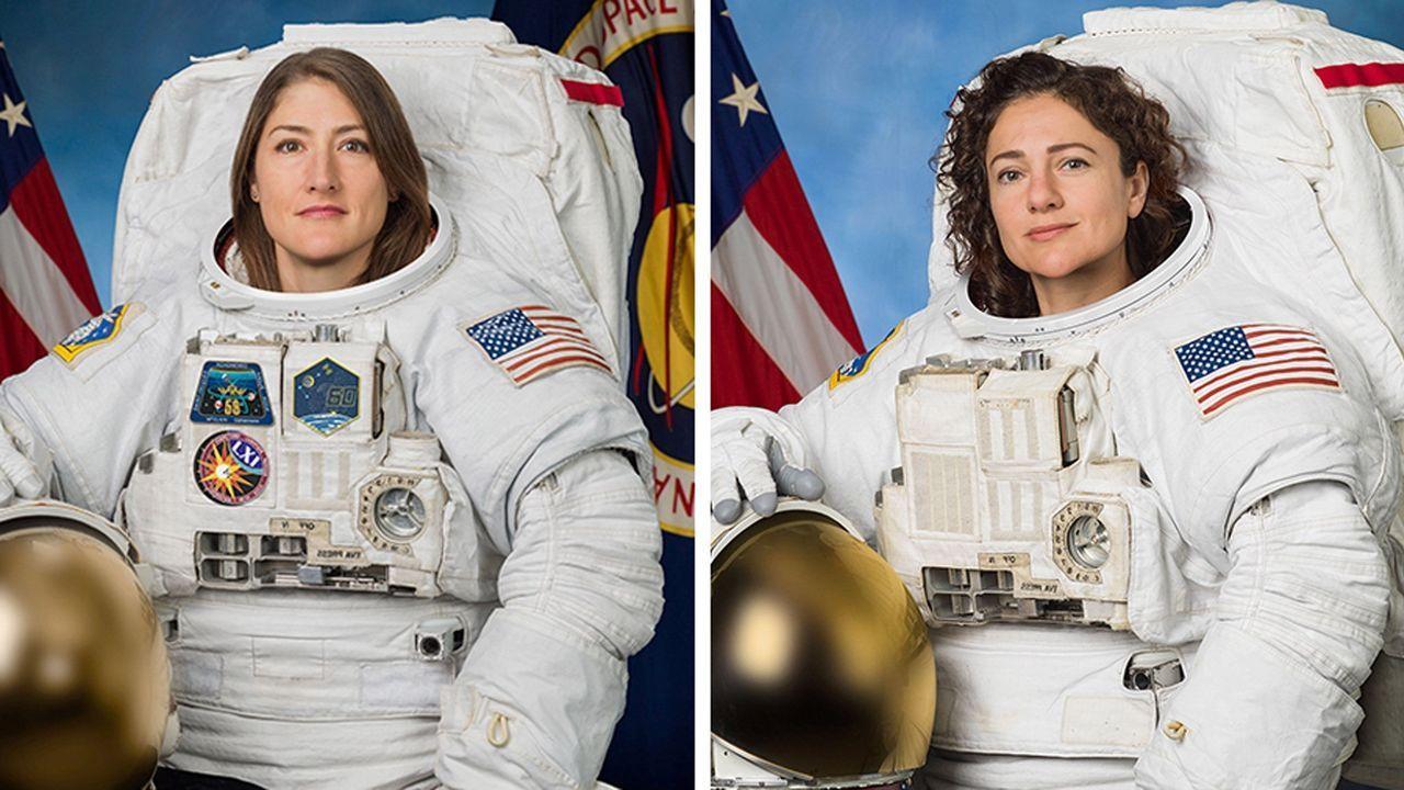 Primer paseo espacial exclusivamente femenino.El logo de la NASA