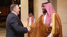 Pompeo y el príncipe heredero saudí, Mohamed bin Salman, se reunieron el miercoles en Yeda para coordinar una respuesta a los ataques