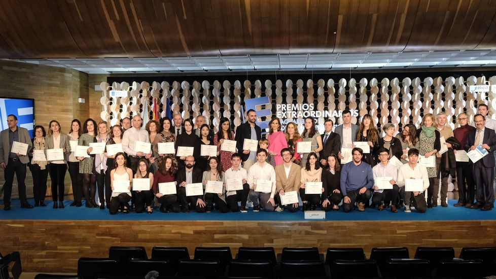 Imagen de archivo del pasado febrero, cuando se celebró la entrega de los premios extraordinarios de bachillerato y FP superior del curso pasado
