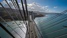 Imagen del puente de Rande desde su cota más alta