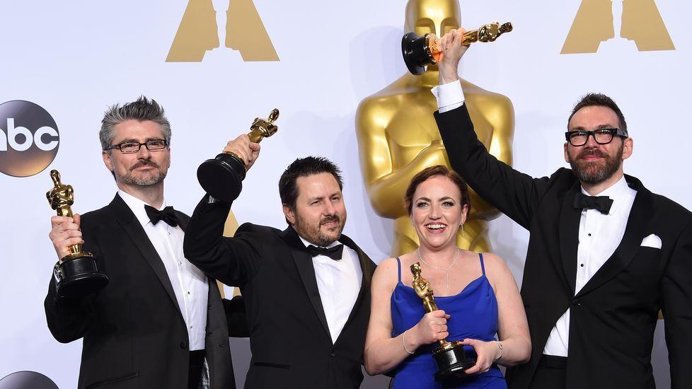 Andrew Whitehurst, Paul Norris, Mark Ardington y Sara Bennett ganaron el Oscar a los mejores Efectos Especiales por «Ex Machina».