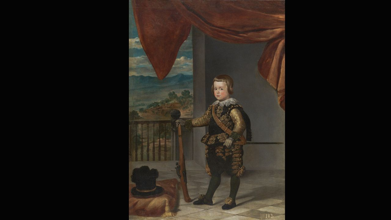 Museo de Bellas Artes.'El Príncipe Baltasar Carlos', una obra del taller de Diego Velázquez