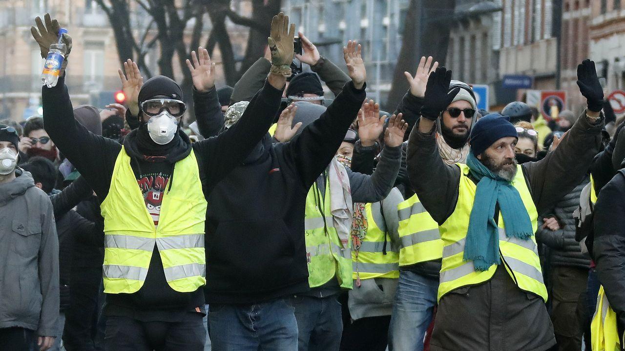 Barricadas en el centro de París