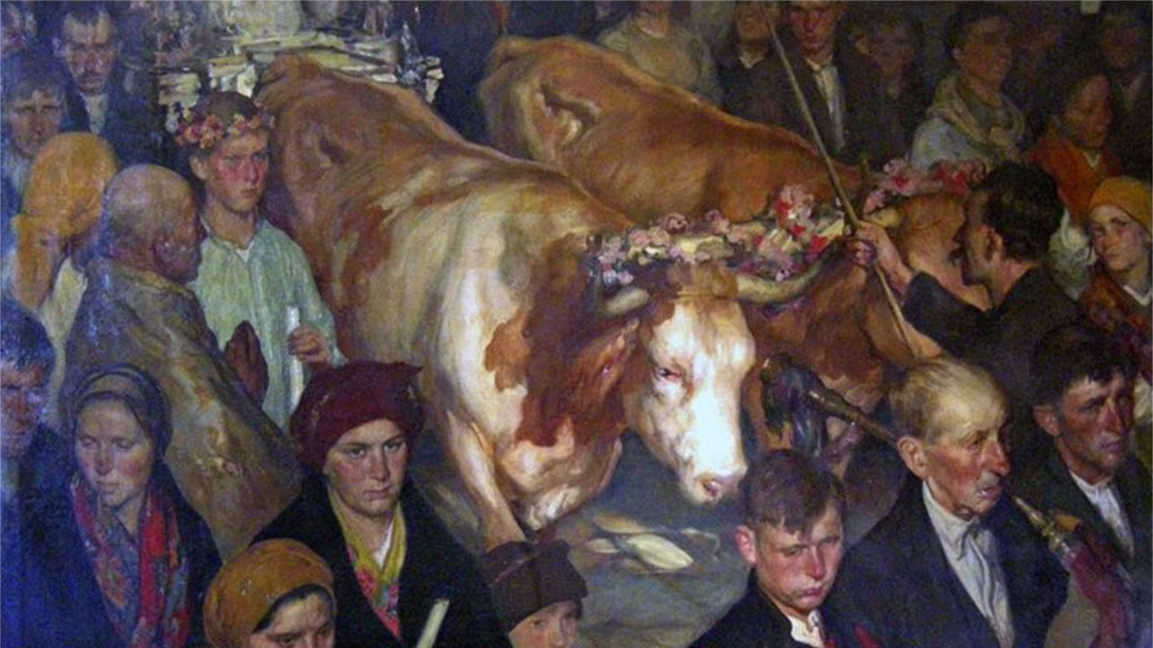 «Procesión de la Virgen de la Franqueira» (1931), de Sotomayor