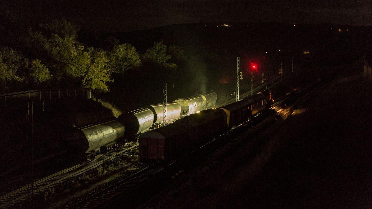 Descarrilamiento de un tren de mercancías en Taboadela