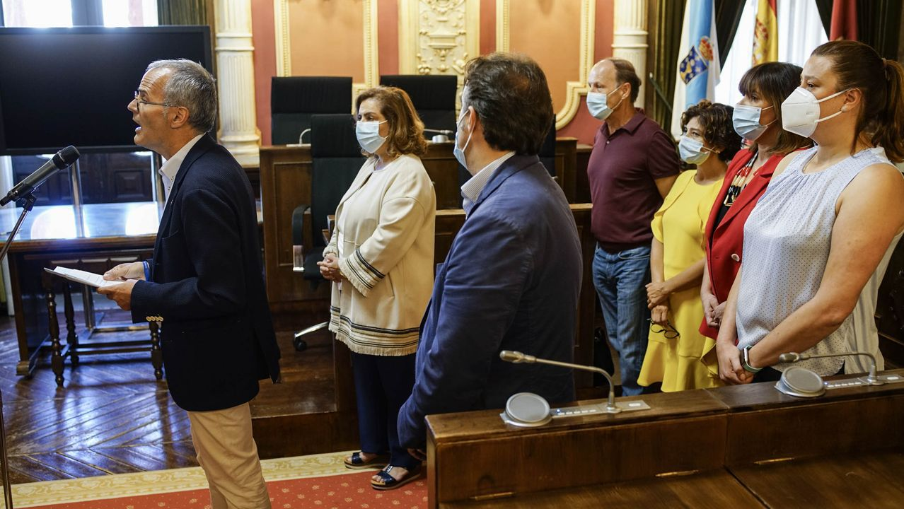 Los concejales del PP, cuando anunciaron su salida del gobierno municipal