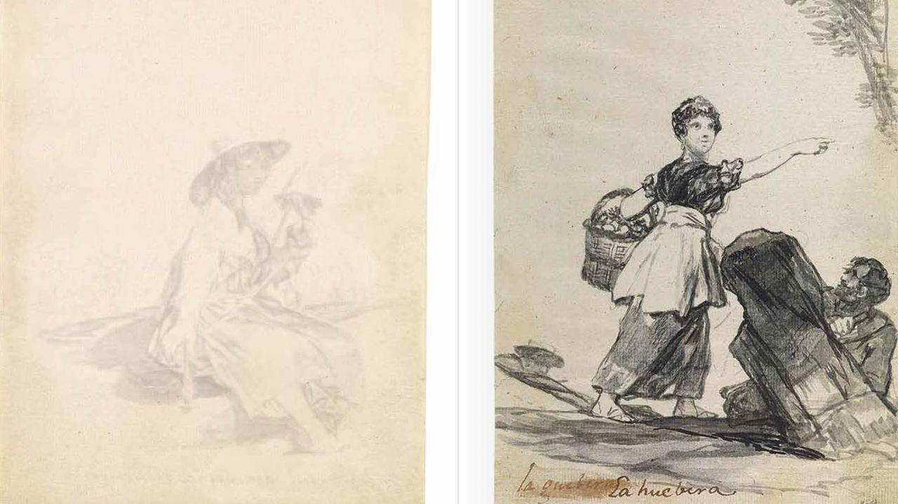 Dos de los dibujos del «Cuaderno C» de Goya