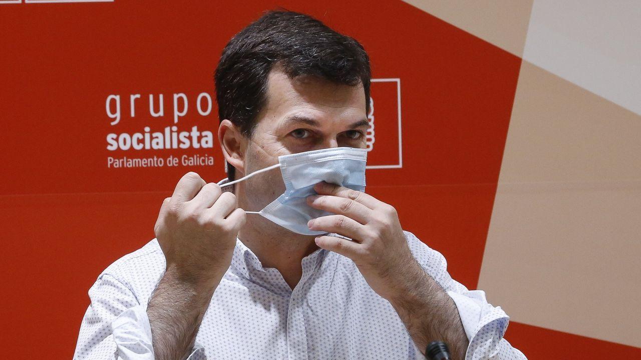 Declaraciones de Abel Caballero en Cee.Eva Martínez Acón, secretaria general de la Agrupación Socialista de A Coruña