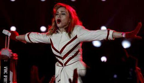 Madonna actuó el jueves en San Petersburgo.