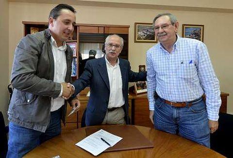David Cotelo, Carlos Oliete y Manuel Soto.