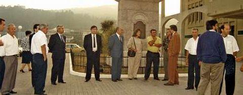 Inauguración dedicada a Domingo Antonio de Andrade en Cee, no mes de agosto de 1990.