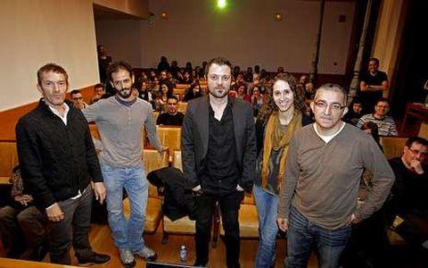 David Rubín, en el centro, abrió las jornadas. <span lang= es-es >álvaro ballesteros</span>
