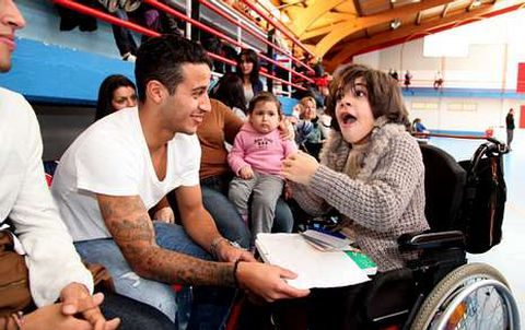 Marta estuvo el domingo con Thiago y Rafinha Alcántara en un encuentro de Ellael Vigo-Voley.