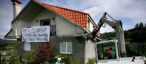 La casa fue demolida en mayo del 2009 y la familia exigió una indemnización al Concello.