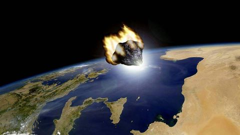 Recreación del paso del asteroide facilitada por el Observatorio Astronómico de Mallorca
