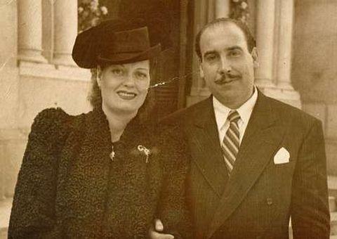 Ascensión Concheiro y Paco Comesaña, en una foto del año 1948.