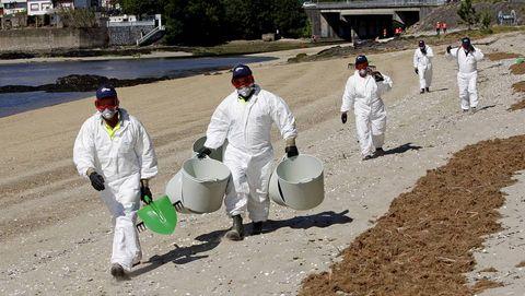 simulacro de activación do Plan de Continxencias por Contaminación Mariña Accidental (Plan CAMGAL)