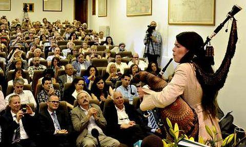 Cristina Pato interpretou unha peza para pechar a cerimonia.