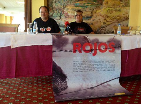 Ruben Afonso, de la CRMH de A Coruña, y Amparo Perez, productora del documental