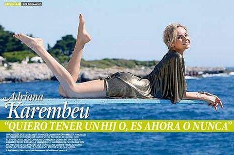 Bajo la portada de Hoy Corazón, con Nadal como protagonista, la modelo Adriana Karembeu afirma que está deseando tener un hijo y que no quiere que se le pase la edad.