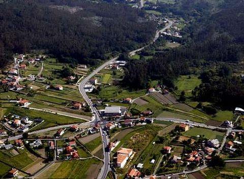 El primer tramo de la circunvalación conectará Vilaboa con A Ermida, en Marcón (en la imagen).