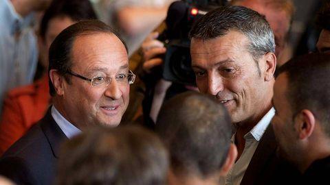 Edouard Martin y Francois Hollande, en una imagen del pasado mes