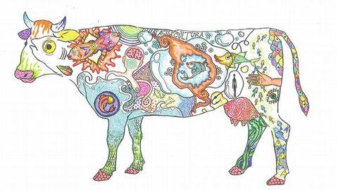 La vaca dibujada por Esperanza Valentina Castro fue elegida entre 3.009 trabajos