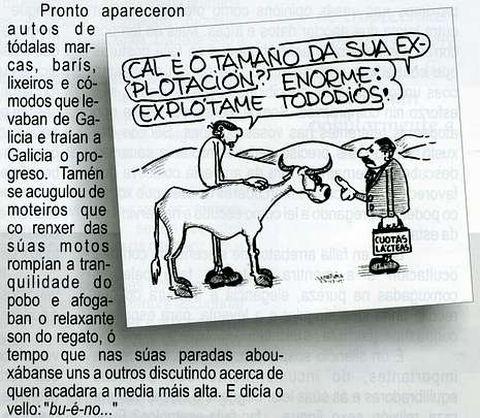 As viñetas do Carrabouxo ilustran algunhas páxinas da publicación.