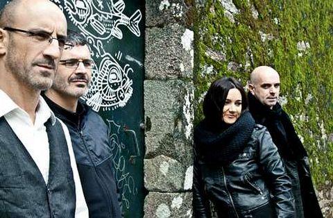 Guillerme Fernández, Xosé Lois Romero, Guadi Galego e Xabier Díaz (esquerda a dereita) son aCadaCanto.