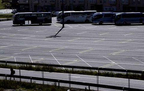 Autobuses y autocaravanas pagarán más este año por acceder al aparcamiento de Salgueiriños.