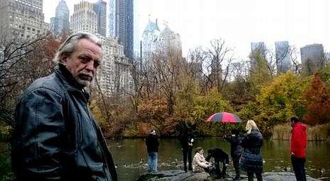 Ponte, en Central Park, en Nueva York, donde filmó buena parte de las escenas de «Little Galicia».