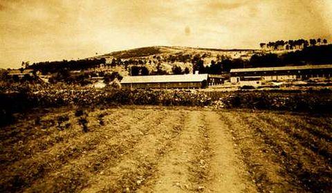 Fotografía antigua de la zona de las minas cruceñas.