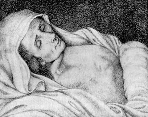 <span lang= es-es >La enferma de Gonzar</span>. La ilustración, de 1842, es de Botana Cancelo. Fue un caso único.