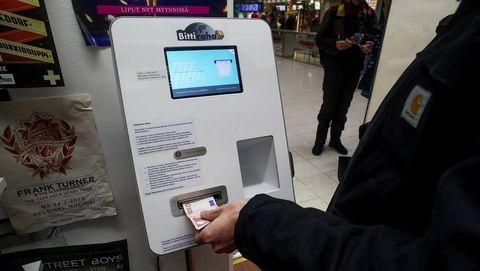 Cajeros de bitcoines instalados en Helsinki (Finlandia)
