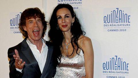 L'Wren Scott y Mick Jagger durante el Festival de Cannes del año 2010