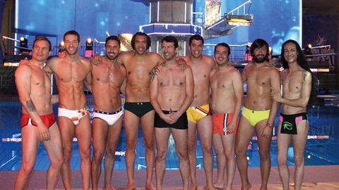 Sandro Rey (derecha) con sus compañeros de «Mira quién salta»