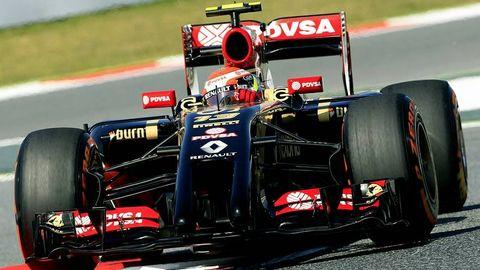 Maldonado, durante el GP de España