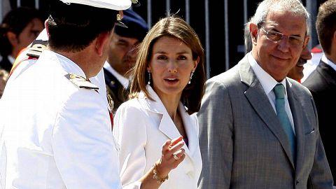 En la entrega de despachos de los nuevos oficiales de la Armada en Marín en 2008.