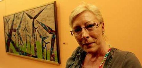 Rosa Pereda Salgado, pintora coruñesa que asegura sentirse como una laxense más.