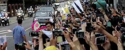 La presencia de Francisco en Corea del Sur, donde se bautizan 100.000 personas al año, ha despertado gran expectación.