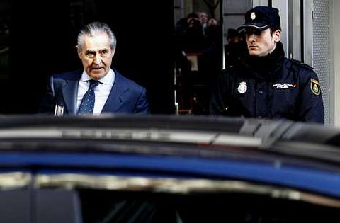 Blesa, saliendo de la Audiencia Nacional tras una comparecencia ante el juez este mismo año.