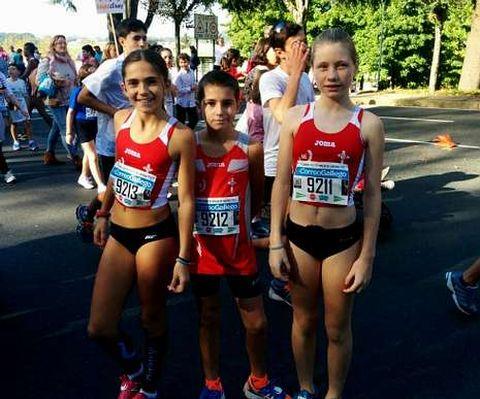 Los integrantes del Atletismo A Estrada hicieron un buen papel.