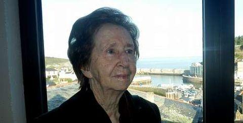 Margarita Salas, el viernes en Luarca.
